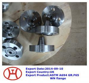 China ASTM A694 GR.65 WN flange on sale