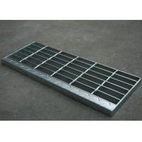 Quality Galvanised Steel Stair Treads With Nosing 6mm Twist Steel Cross Bar for sale