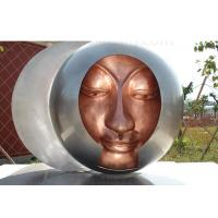 Quality Welding Decorations Metal Bronze Statue Abstract Garden Sculpture 200cm Dia for sale