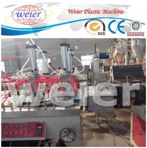 Quality 300-600mm WPC Extrusion Line , 3D decorative hollow panel Wood Plastic Composite Extruder for sale