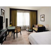 China Purthisat wood factory for Hotel furniture of Bedroom set by wood bed and dresser table with Armchairs on sale