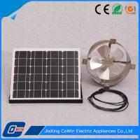 China Commercial Solar Powered Gable Vent Fan , Solar Gable Attic Vent Light Weight on sale