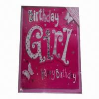 Quality Birthday Greeting Card with CMYK Printing, UV and Gold Foil for sale