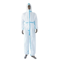Quality Medical Use Disposable Non Woven Coverall With Without Shoe Cover for sale
