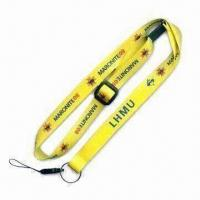 Quality Camera/Neck Lanyard with Adjustable Buckle, Mobile String and Keyring, Heat-transfer Printed for sale