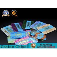 Quality Marble Acrylic Crystal European Casino Poker Chips / Wear Resistance Casino Jetons for sale