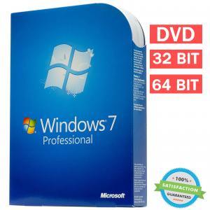 Quality Microsoft Windows 7 Professional Retail Box 64 Bit , COA License Key DVD Genuine for sale