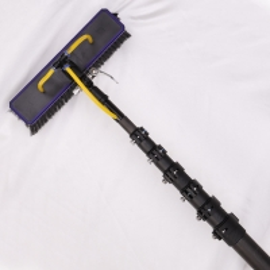 Quality Window Cleaning 12m Black Color Carbon Fiber Telescopic Pole for sale
