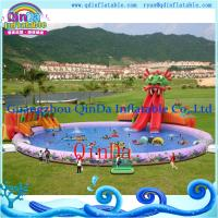 Quality Inflatable Aqua Park , Above Ground Portable Water Park Infltable Slide with Pool for sale