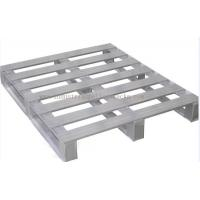 """Quality Heavy Duty Metal Pallets Warehouse Equipments Standard Size 40"""" X 48"""" Grey Color for sale"""