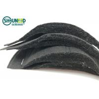 Quality Needle Punch Non Woven Sewing Shoulder Pads Black Color Half Moon Shape for sale
