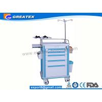 Quality ABS Big Size Emergency Medical Trolleys With Draws / IV Stand (GT-TAQ203) for sale
