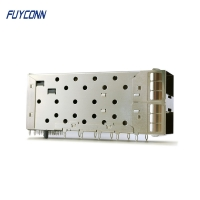 Quality 40pin Female Small Form Factor Pluggable SFP+ Cage Connector for sale