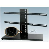 Quality Black Expansion LCD Flat Screen TV Floor Stand Smart Degined 600 X 330 mm for sale