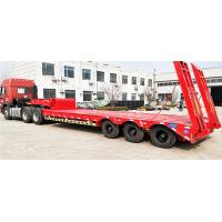 China Steel Material 60T -70T Heavy Duty Semi Trailers Low Bed 3 Axles 12R22.5 / 12R20 Tire on sale
