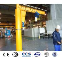 Quality 2 ton 180 Degree Electric Winch Warehouse Rotating Arm Hoisting Floor Mounted Jib Crane Design for sale