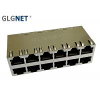 Quality POE RJ45 Multiple Port Connectors 2 x 6 Ports - 40 °C To 85 °C Operating Temp for sale