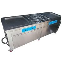 Quality Stainless Steel Thailand Fried Ice Cream Machine With Double Square Pans for sale
