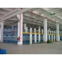 Quality Two Tier Flooring Industrial Mezzanine Floors Shelving 5m Height with Side Board for sale