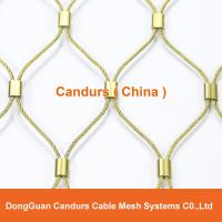 China Flexible AISI 316 Stainless Steel Cable Mesh Fence Ferrule Type on sale