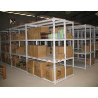 Quality manual picking angel metal light duty shelving with small carton box stock for sale