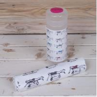 Quality Microfiber printed cleaning cloth with PP tube packing for sale