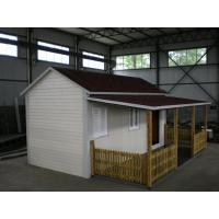 China Sloped Roof Portable Prefab Modular Homes Easy Assembled As Shop on sale