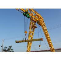 Quality Strong Steel Industrial Electric Gantry Crane Single Beam 5-20 Ton Loading Capacity for sale