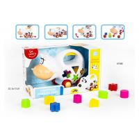 Quality Educational Shape Sorting Matching Baby Blocks Toys Car Set 9Pcs PP Plastic Material for sale