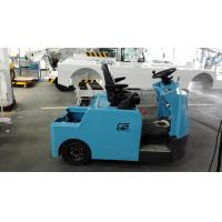 Blue Baggage Towing Tractor Carbon Steel Material With Lead Acid Battery