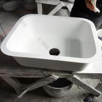 Quality professinal manufacturer Matt Semigloss inconspicuous seam solid surface kitchen sinks for sale