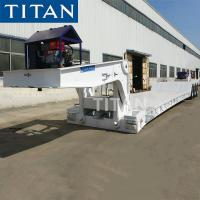 China heavy duty lowboy tractor trailers hydraulic detachable 80ton front loading lowbed semi trailer with gooseneck on sale