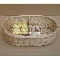 Buy cheap 2016 wicker kitchen storage basket 2 partitions from