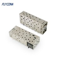 Quality Small Form Factor Pluggable Stacked Multi Port 40pin SFP Connector for sale