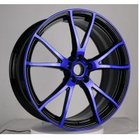China china production monoblock dark blue machined face forged alloy wheels and rims on sale