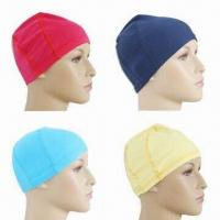 Non-toxic Swim Caps, Made of Lycra Material, Customized Logo Printings are Accepted