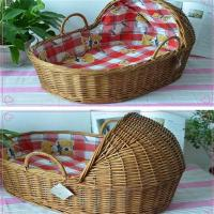 Quality wicker rattan basket baby basket for sale