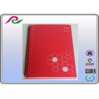 Quality red Recyclable stone paper A5 spiral office notebooks of PP Cover for sale