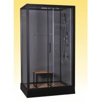 Quality Luxury Massage Corner Shower Stalls , Rectangular  Shower Cabin with bamboo seat 1200x800x2150mm for sale