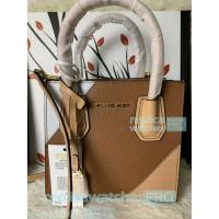 Quality New Knockoff Michael Kors Mercer Brown Genuine Leather Women's Bag for sale