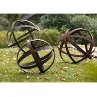 Buy Hollow Corten Steel Lawn Ball Rusted Metal Garden Sculptures Custom  Size At Wholesale Prices
