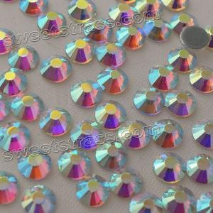 Quality Crystal AB MC Hot Fix Rhinestone Strass Wholesale Women Garment Bags Accesorries Gemstones HOTFIX Flat Back Rhinestones for sale
