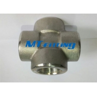 Quality ASTM A182 Stainless Steel Forged Pipe Fittings F304 Socket Welded Cross for sale