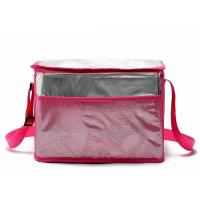 Quality Green Insulated Tote Lunch Bag With Shoulder Strap Aluminum Foil Material for sale