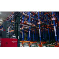 Quality Adjustable Dairy industrial Radio Shuttle Racking with forklift truck , 1500KG for sale