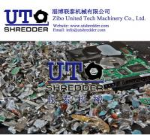 China hot sale full automatic E scrap hard drives shredder/ 2 shaft intelligent low noise shredder/ double shaft crusher on sale
