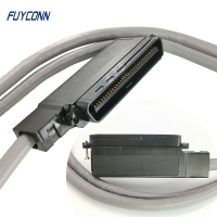 Quality 64 Pin 32 Pairs IDC Cable Assembly With IDC Connector 90 Degree Outlet Assembled for sale
