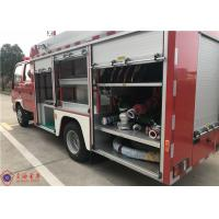 Quality Strobe Lights 2000L Water Pumper Tanker Fire Trucks With 2+3 Seat for sale