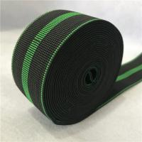 China reflective polyester webbing width 50mm black color use for sofa seat on sale