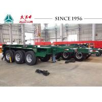 Quality Heavy Duty 20 FT 3 Axle Skeletal Container Trailer With High Transport Efficiency for sale